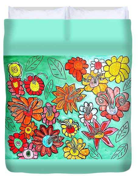 Flower Power Duvet Cover by Artists With Autism Inc