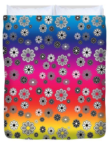 Flower Power Groovy Multicolor Duvet Cover