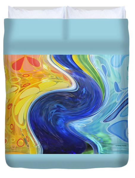 Duvet Cover featuring the photograph Flower Power by Kenny Francis