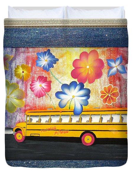Flower Power Duvet Cover by Ron Davidson
