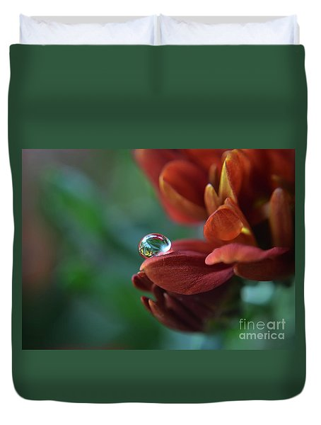 Flower Reflection Duvet Cover