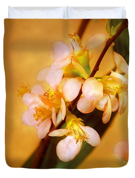 Flower - Sakura - A Touch Of Spring Duvet Cover by Mike Savad