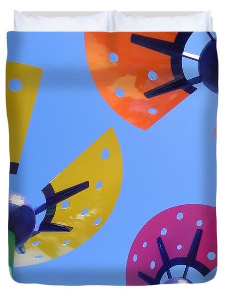 Flower Sculpture Duvet Cover