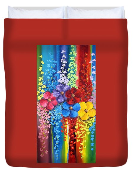 Flower Shower Duvet Cover