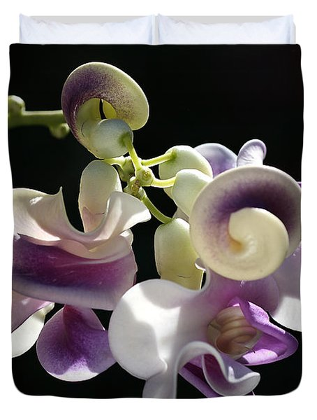 Flower-snail Flower Duvet Cover by Joy Watson