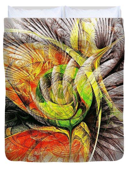 Flower Spirit Duvet Cover by Anastasiya Malakhova