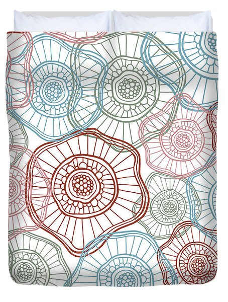 Flower Squiggle Duvet Cover