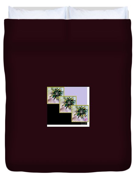 Duvet Cover featuring the digital art Flower Time by Ann Calvo