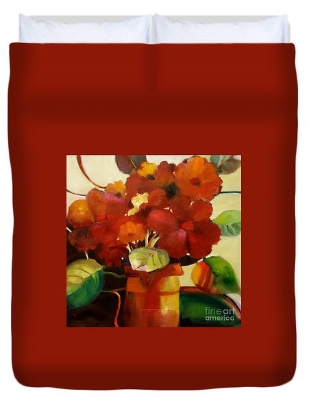 Flower Vase No. 3 Duvet Cover
