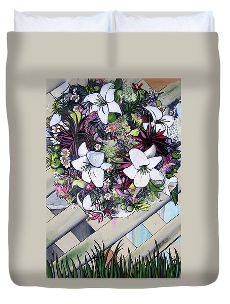 Floral Wreath Duvet Cover