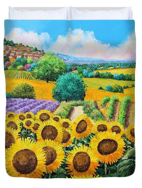Flowered Garden Duvet Cover by Jean-Marc Janiaczyk