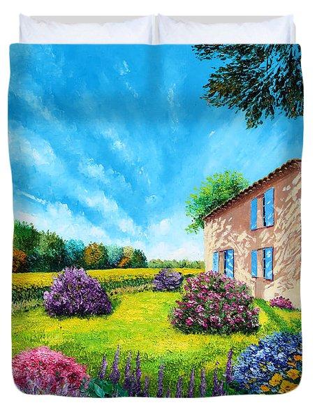 Flowered Garden Duvet Cover by MGL Meiklejohn Graphics Licensing