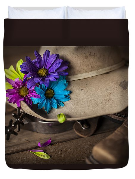 Flowered Hat Duvet Cover
