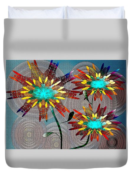Flowering Blooms Duvet Cover