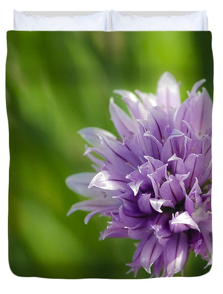 Flowering Chive Duvet Cover by Dee Cresswell