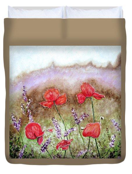 Flowering Field Duvet Cover