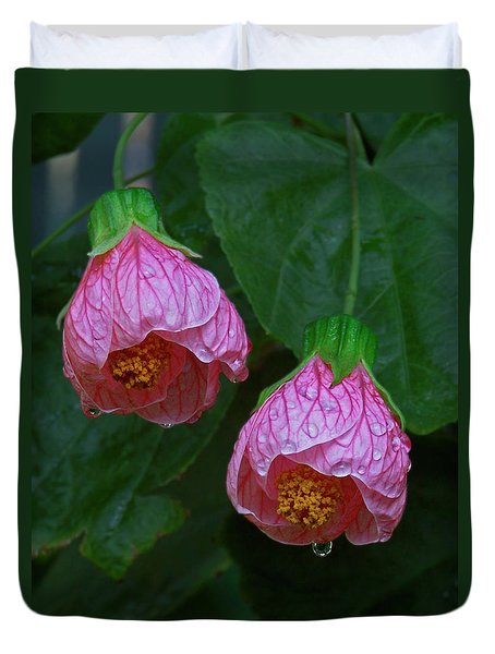 Flowering Maple Duvet Cover
