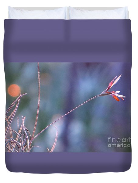 Duvet Cover featuring the photograph Flowering Moss by Joy Hardee