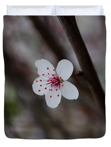 Flowering Plum 3 Duvet Cover
