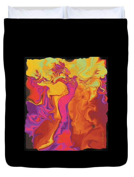 Flowerishing Dancer Duvet Cover