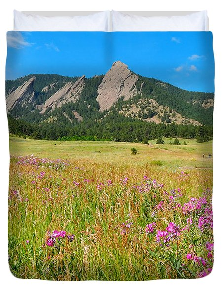 The Flatirons Colorado Duvet Cover