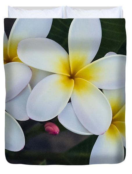 Flowers And Their Bud Duvet Cover