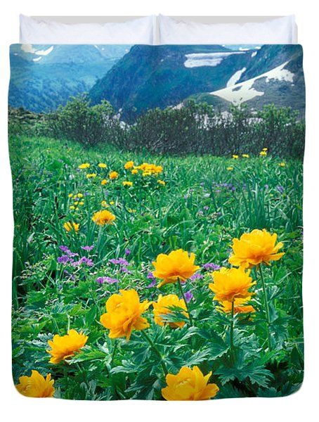 Flowers Duvet Cover by Anonymous