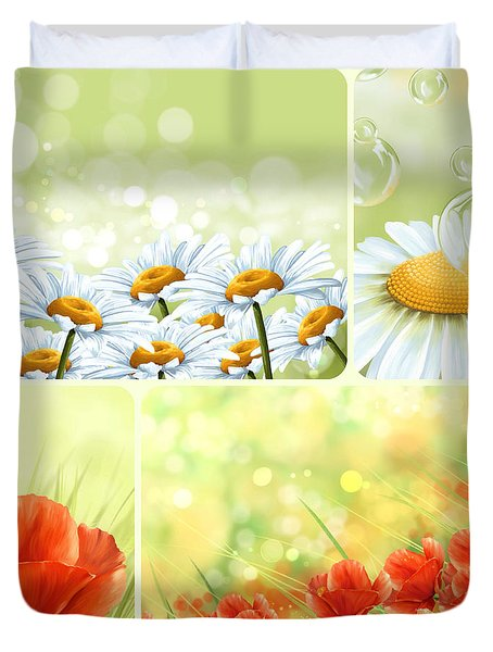 Flowers Collage Duvet Cover