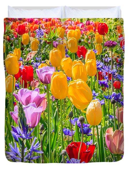 Flowers Everywhere Duvet Cover