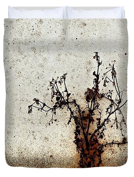 The Brown Plant Duvet Cover by Jason Michael Roust