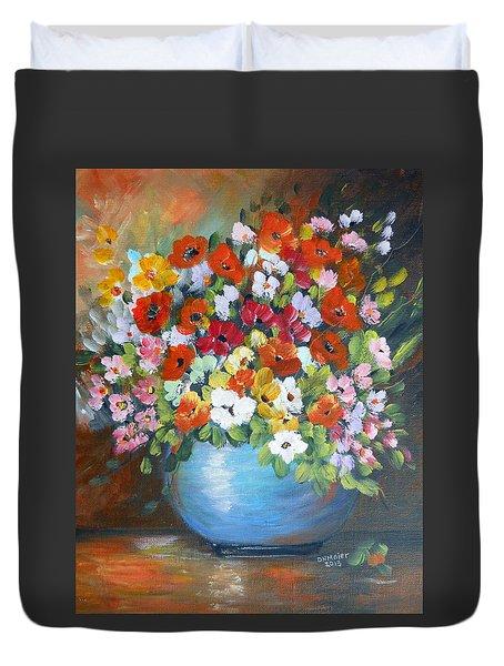 Flowers For A Friend Duvet Cover
