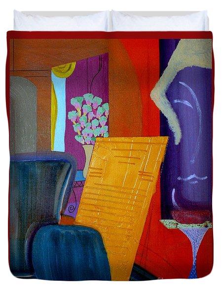 Flowers For Matisse Duvet Cover