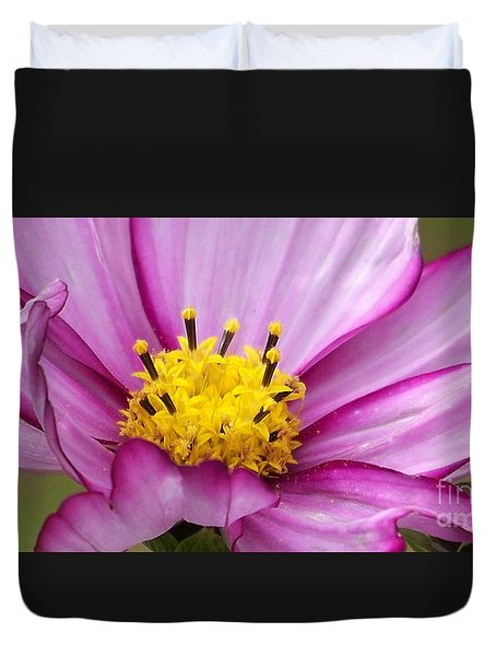 Flowers For The Wall Duvet Cover
