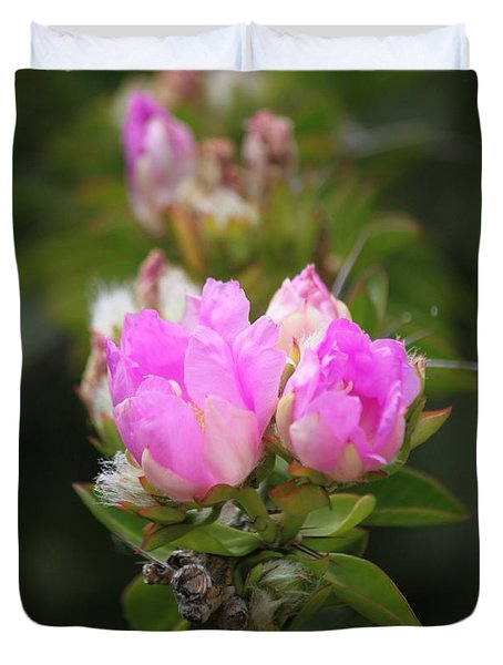 Duvet Cover featuring the photograph Flowers For You by Amy Gallagher