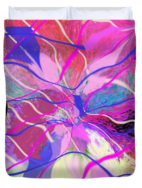 Original Contemporary Abstract Art Flowers From Heaven Duvet Cover