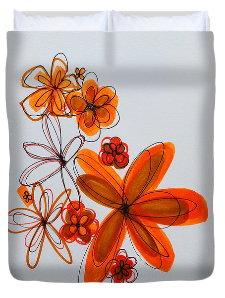 Flowers IIII Duvet Cover by Patricia Awapara