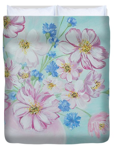 Flowers In A Vase. Inspirations Collection Duvet Cover