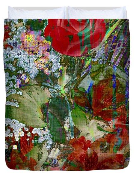 Flowers In Bloom Duvet Cover by Liane Wright