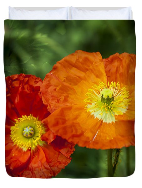 Flowers In Kodakchrome Duvet Cover
