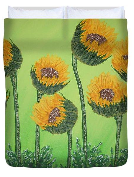 Flowers In Menopause  Duvet Cover