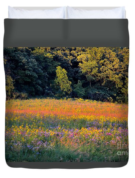 Flowers In The Meadow Duvet Cover