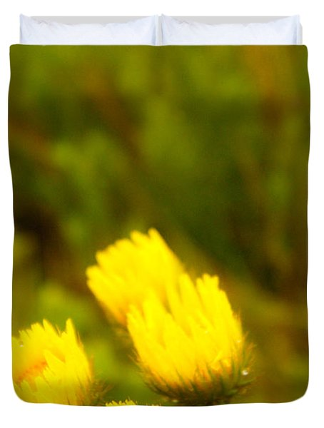 Flowers In The Wild Duvet Cover by Alistair Lyne