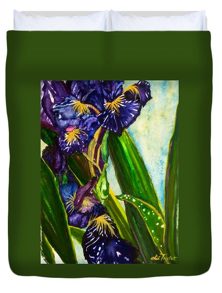 Flowers In Your Hair II Duvet Cover