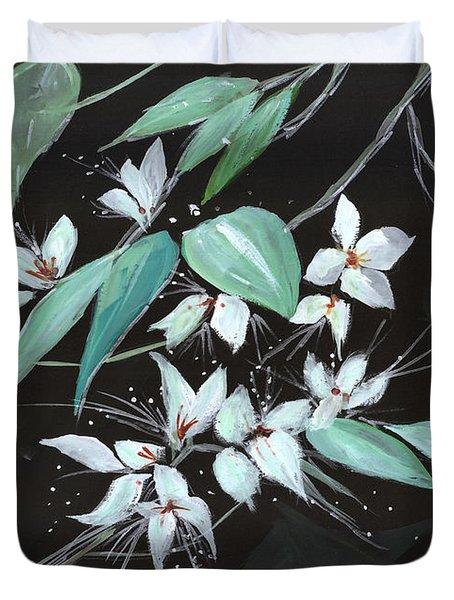 Flowers N Petals Duvet Cover by Anil Nene