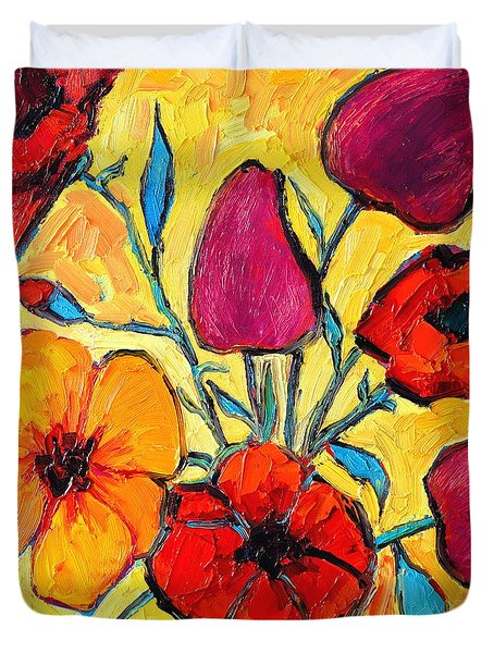 Flowers Of Love Duvet Cover by Ana Maria Edulescu