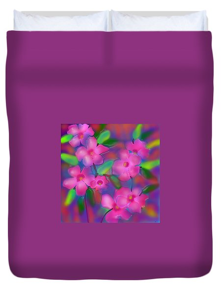 Flowers Of October Duvet Cover
