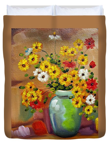 Flowers - Still Life Duvet Cover