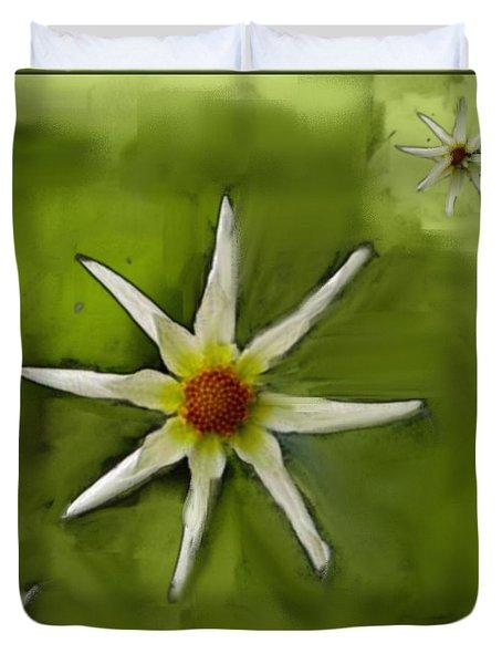 Flowers White Duvet Cover by Nedunseralathan R