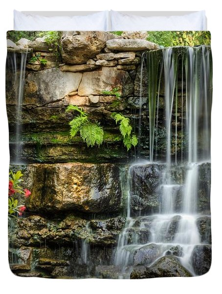 Flowing Falls Duvet Cover by Dave Files