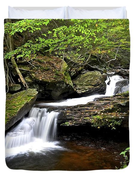 Flowing Falls Duvet Cover by Frozen in Time Fine Art Photography